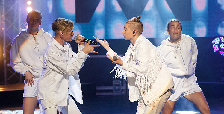 Der Star-Act Marcus & Martinus on stage